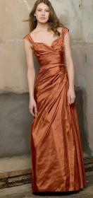 copper bridesmaid rust dresses burnt bridesmaids orange satin teal gold gown gowns cobre formal metallic everyone woman colors cooper jewelry