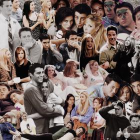 friends collage laptop aesthetic wallpapers series quotes gossip trippy episodes
