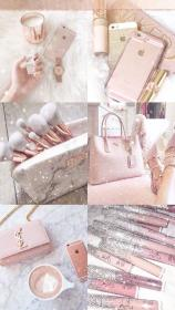 rose gold aesthetic pink girly cute background hd lockscreen exclusive