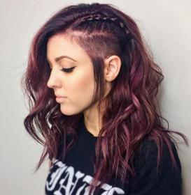 hairstyles undercut shaved hair side long curly haircuts real therighthairstyles way diy strip