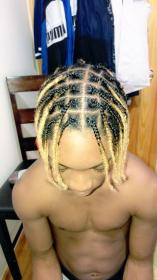 braids blonde hairstyles male twist ombre plates