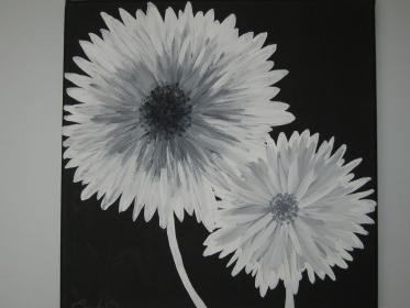 Canvas Painting Black And White Ideas For Beginners Novocom Top