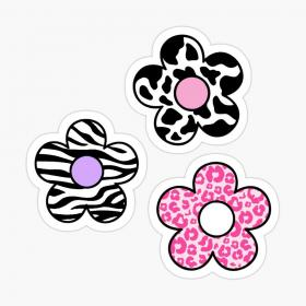 'animal print flower pack' Sticker by adequatedesigns in