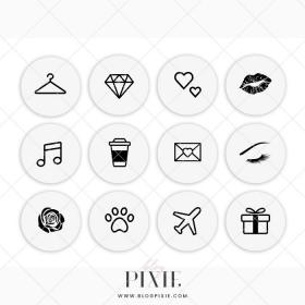 highlight icons highlights grey dusty rose circle pixie blogpixie glitter