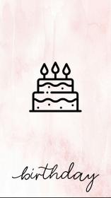 instagram highlight birthday story template insta pink lnstagram icon grey gray posts backgrounds disney iphone