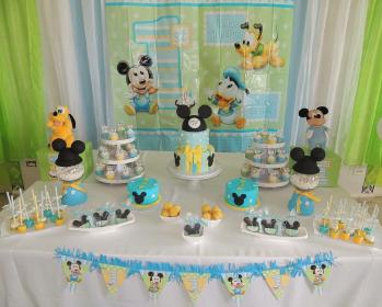 mickey baby mouse cake birthday shower boy festa 1st cakes party clubhouse discover 3d