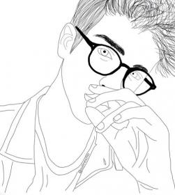 outline drawing drawings boy draw sketches coloring boys easy imagen weheartit getdrawings