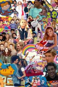 90s collage aesthetic wallpapers iphone 90er kindheit retro phone backgrounds abstract cartoon parede papel descolado fondos spears britney finally finished