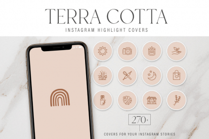 highlight covers blush icon story creativemarket transparent indie template terracotta peach social shaker bottle drinks coconut grace market highlights grey