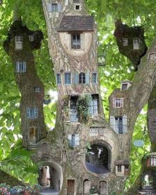 fairy tree garden trees houses miniature cool simple balcony treehouses fairies