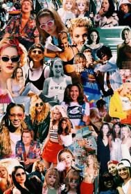 collage aesthetic 90s retro backgrounds wallpapers iphone collages colagem drew pantalla anniston jennifer pinolin inara fondos vsco arte friends stefanie