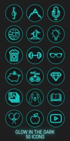 neon highlight icons covers highlights stories dark glow social template engagement