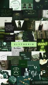 aesthetic collage slytherin potter harry wallpapers hogwarts fondos pastel draco verde malfoy laptop backgrounds dark collages pantalla icons iphone computer