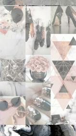 aesthetic wallpapers backgrounds rose gold iphone collage laptop background marble grey pink desktop girly peach lockscreen обои винтаж quotes