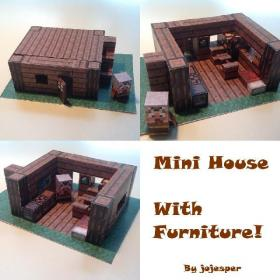 Papercraft Advanced Mini House with Furniture