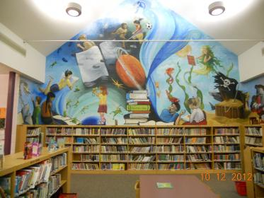 library mural murals elementary wall middle libraries valley reading signs childrens display south children schools painting primary books classroom broad