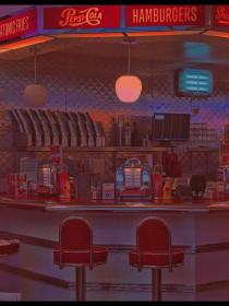 aesthetic retro diner vibes wallpapers quotes collage