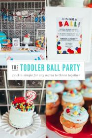 birthday party ball toddler december boy themes theme simple 2nd parties toddlers boys summer danimarieblog themed 1st colors bright celebration