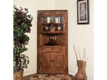 corner cabinet china sedona sunny designs dining room furniture cabinets living hutch comedor kitchen country sets curio esquineros rooms blockers