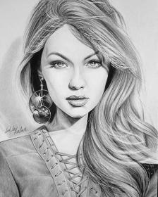 drawings pencil drawing 3d sketches realistic sketch faces woman portrait flowers uploaded user weza777