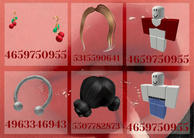 roblox aesthetic usernames codes baddie outfit cherry mine avatars decals