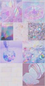 holographic aesthetic cute glitter pink pastel iphone wallpapers purple backgrounds hd sparkly iridescent android collage shiny holo desktop ipad phone