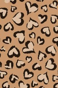 cheetah print heart hearts background backgrounds leopard animal brown wallpapers iphone cute gold girly phone colorful patterns cheetahs weheartit