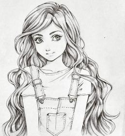 drawing sketches pencil drawings disney sketch anime hair cartoon cool hairstyles crayon draw dessins dessin simple instagram girly demanddrawing sketching