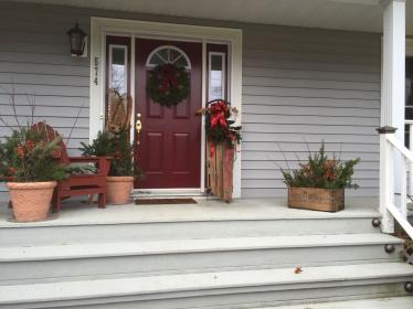 porch decorating decorations makeover doors cupboard holiday