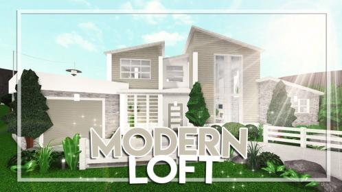 bloxburg modern loft welcome houses aesthetic bedroom mansion rooms story building colonial 62k floor outside suburban 65k plans blush roblox