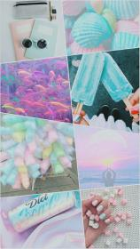 pastel aesthetic iphone collage wallpapers hay backgrounds colors pastels cute kawaii plz follow pretty uploaded user