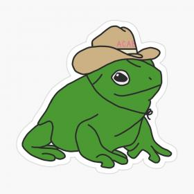 redbubble indie frog drawing frogs stickers aesthetic hat tattoo acab cowboy sticker tpwk cottagecore drawings kawaii