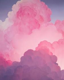 pink clouds wallpapers happy aesthetic cloud iphone backgrounds background instagram phone painting valentines pastel girly dreamy visita unicorn holo จาก