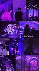 purple aesthetic wallpapers phone backgrounds neon pastel ios iphone collage edgy vsco fondos pantalla colors trista marie galaxy