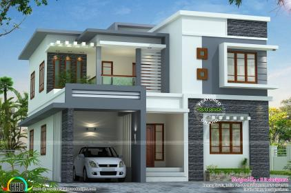roof plans flat kerala architecture gowtham raj storey double floor exterior simple duplex luxury concepts