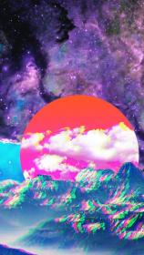 aesthetic wallpapers vaporwave cool backgrounds computer iphone background trippy space 1080 sky phone reuploaded problem because quality intro lil