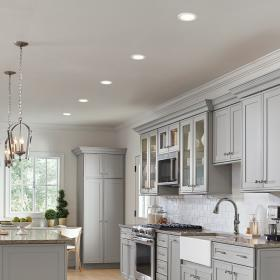 recessed lighting install ceiling kitchen lights ceilings sloped should layout installation installing modern lay apart far placed depot fixture diy