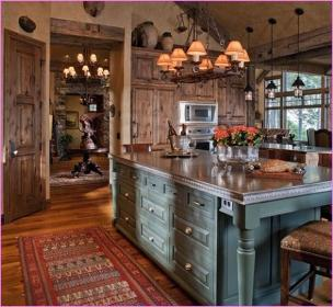 lake rustic kitchen decor decorating cottage kitchens houses cabin interior wall lodge tips loft cool diy designs homes cabinets cottages