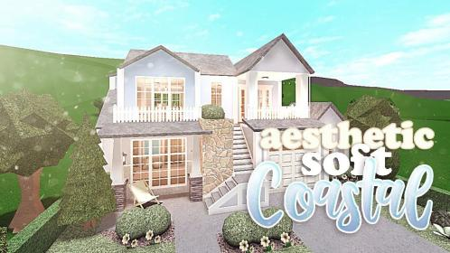 bloxburg aesthetic soft story build simple plans layouts homes modern coastal rooms floral