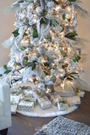 tree flocked pine themed cone trees themes slim homewithholliday