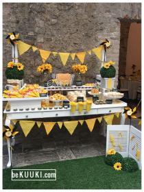 Mesa de dulces candy bar baby shower Mom to bee