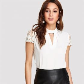 office blouse elegant blouses workwear sleeve lace tops