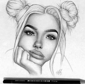 drawing sketch draw pencil realistic drawings sketches favim cool pretty face faces dope s13 creative