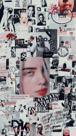 billie eilish aesthetic backgrounds cartoon iphone eillish quotes tumbler wallpapers mood board