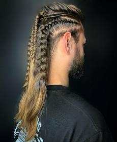 viking braids braided hairstyles mens vikings cheveux rugged french braid nordic warrior haircuts modern allthingshair homme coiffures designs hairstyle traditional