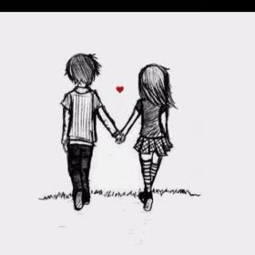 drawings cartoon holding hands couple drawing anime couples together sketches simple showing