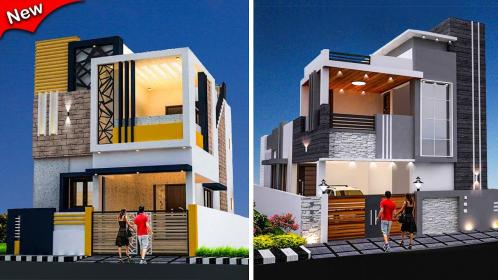elevation floor double building balcony outer