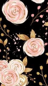 gold rose background backgrounds wallpapers phone flower floral wall paper print