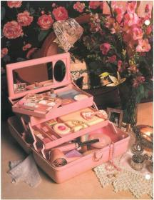 aesthetic 80s retro girly makeup collage