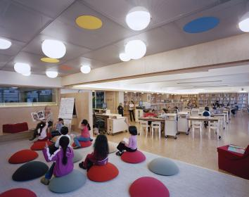 library elementary classroom libraries interesting children furniture primary designshare seating bergen decor idea fun layout homedecorreport schools spaces ps1 space